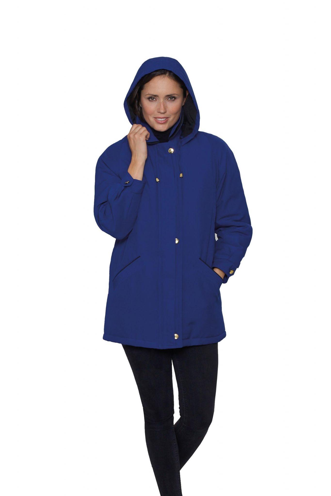 Hooded rain jacket women