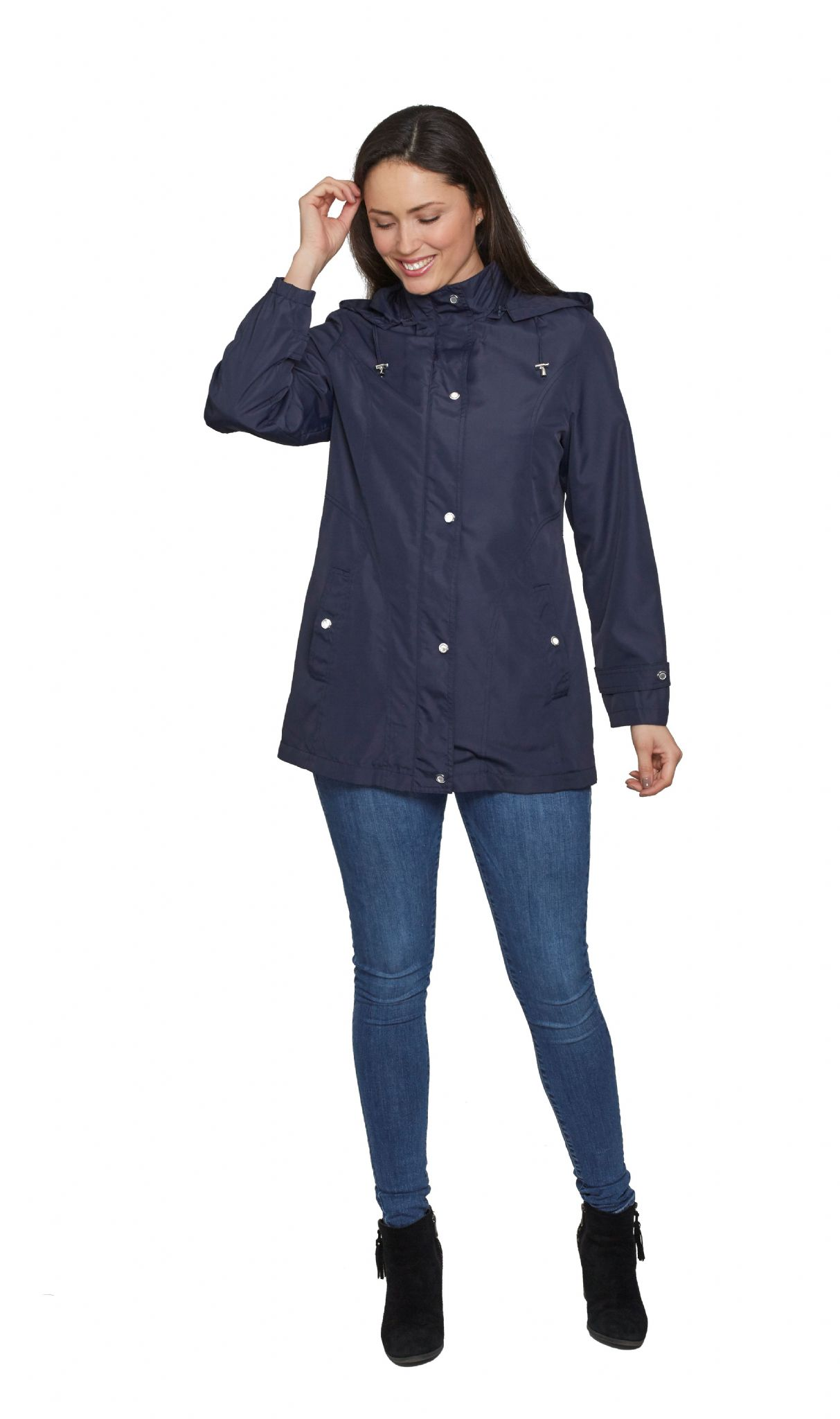 Womens Lightweight Hooded Rain Jacket