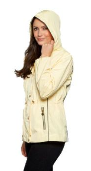 Womens Luxury Piped Hooded Travel Jacket