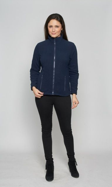db510 Womens Warm Lined Navy Fleece Jacket