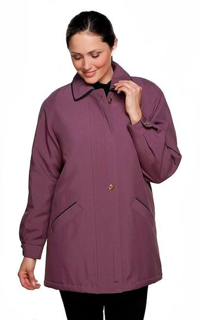 db871 Womens Classic Hooded  Plum Rain Jacket