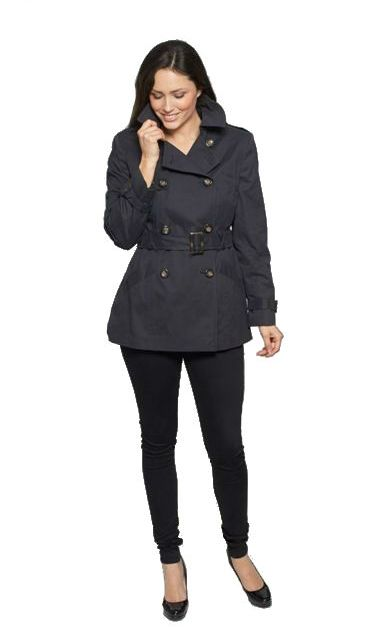 Latest Offer db402 Womens Black Trench Jacket