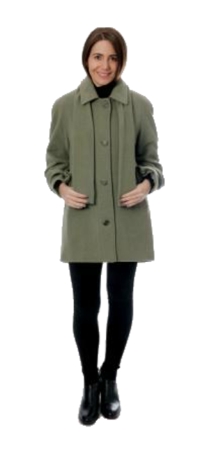 Womens Classic Lady Long Sage Green Jacket K650