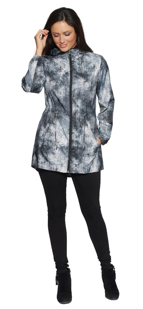 Womens Lightweight Grid Print Travel Jacket db3127