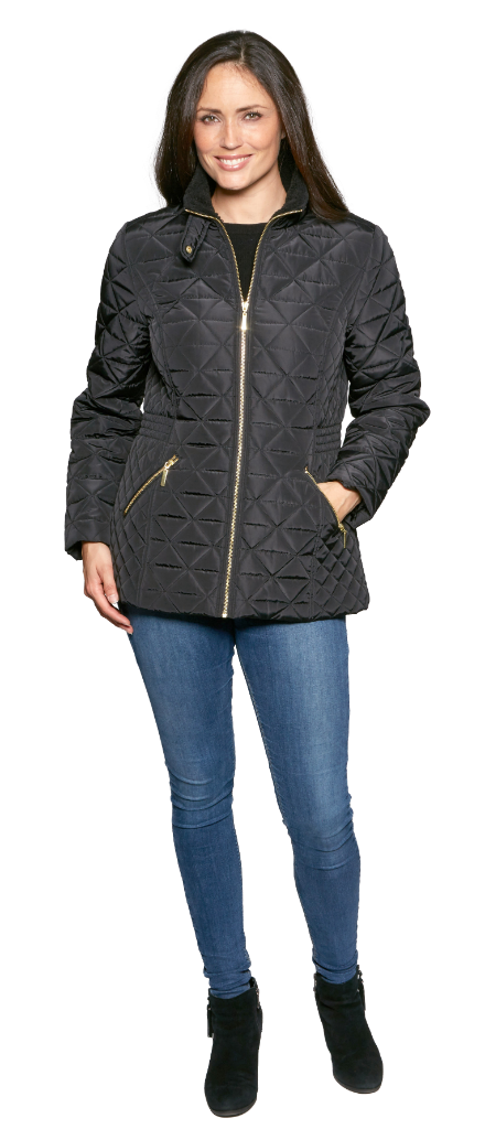 Womens Luxury Diamond Stitch Quilted Jacket db9008