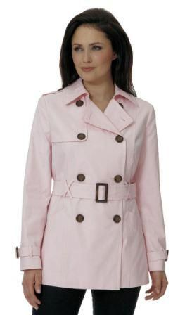 Womens Pink Trench Jacket db402